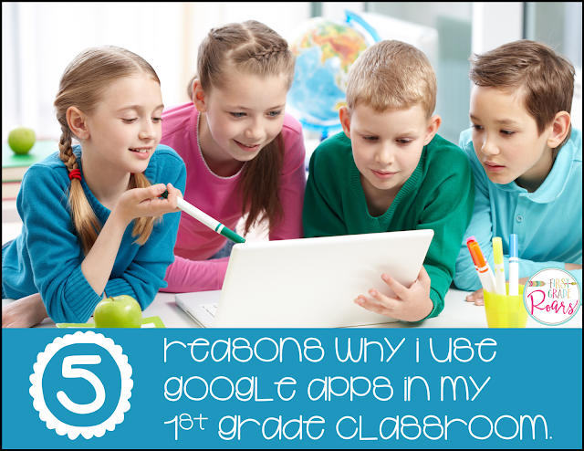 5 Reasons why I use Google Apps in my 1st Grade Classroom