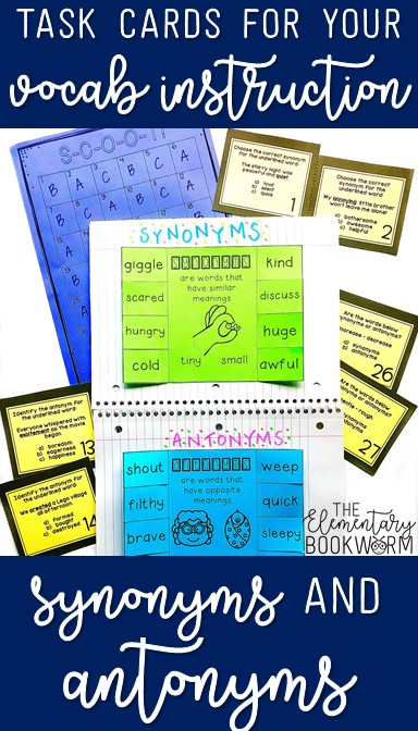 Synonyms and Antonyms: Teaching Texts, Freebies, and MORE