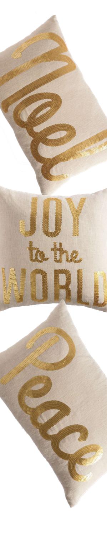 Grandin Road Embellished Script Pillows
