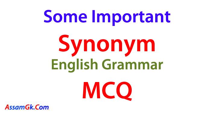 Some Important Synonym MCQ  Part 1  Assam Gk