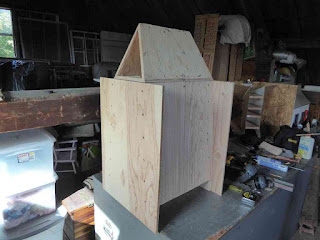 "Folded Bass Horn - Two More Side Panels and ""Roof"""