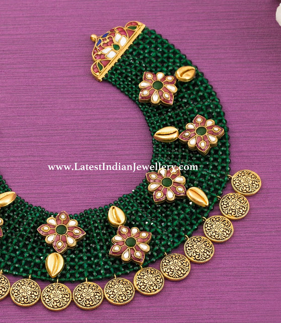 Emerald Net Style Necklace