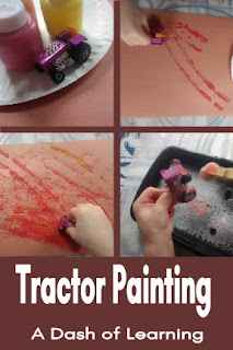 Tractor Painting: Preschool Process Art Farm Activity