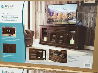 Place your tv and organize your electronics with the Bayside Furnishings Brockport 65 inch TV Console