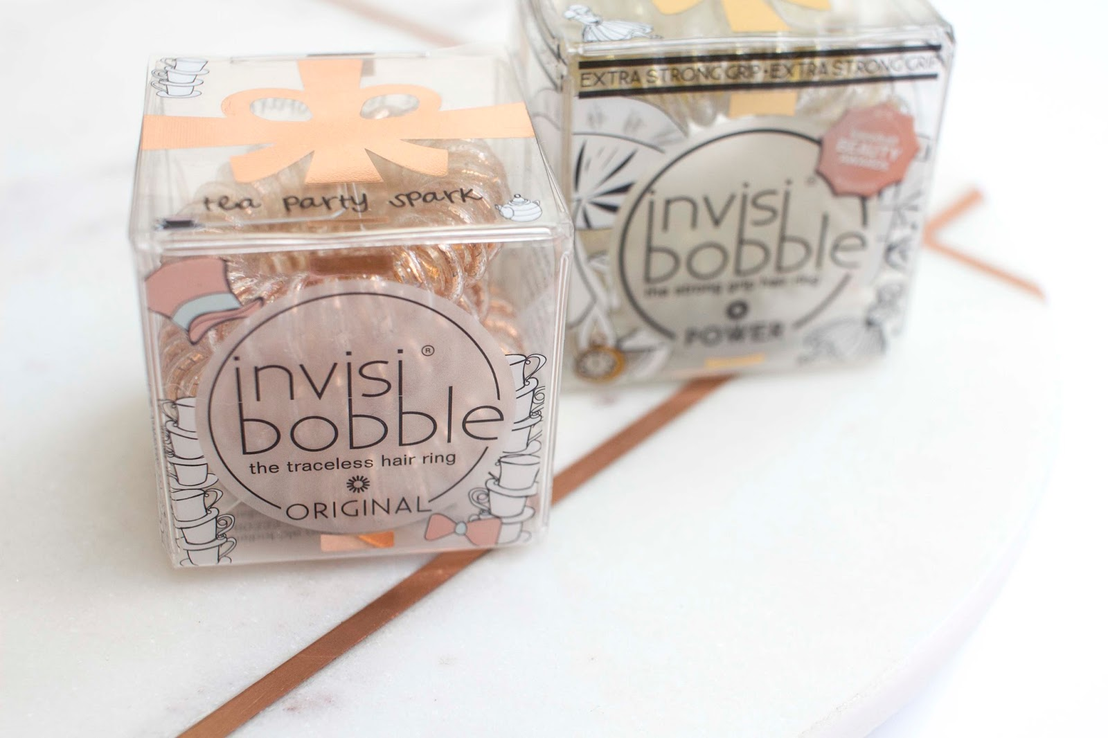 Here I have the Invisibobble Tea Party Spark  and Golden Adventure  sets fd6ba33b7b2