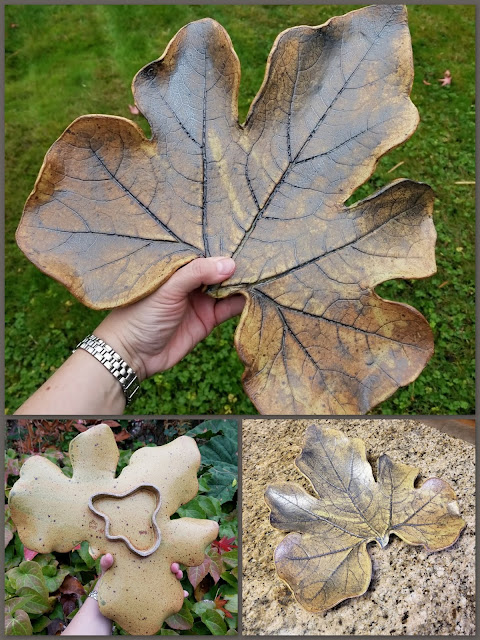 Squash leaf plate by Lily L (Tiger Lily Pottery).