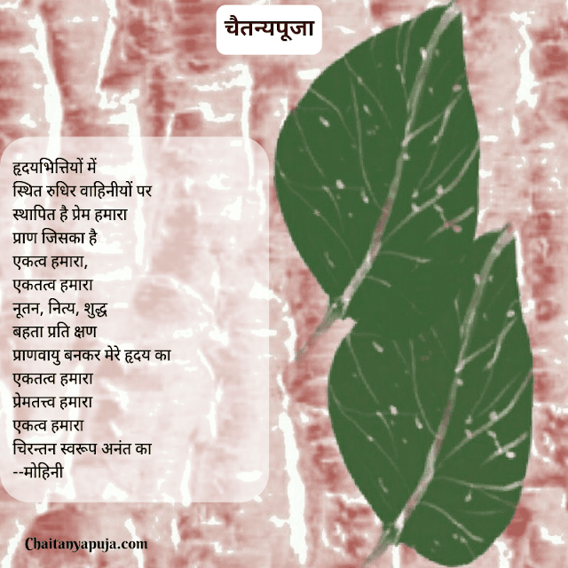 Text Image for Hindi Kavita on Chaitanyapuja 'Ekatva Hamara'