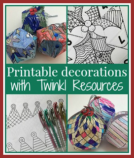 Printable Christmas decorations with Twinkl resources