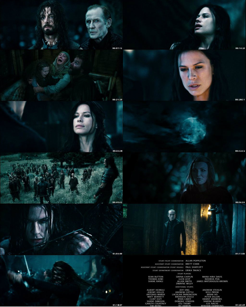 Screen Shot Of Underworld: Rise of the Lycans 2009 300MB Full Movie Hindi Dubbed Free Download 480P BRRip Small Size PC Movie