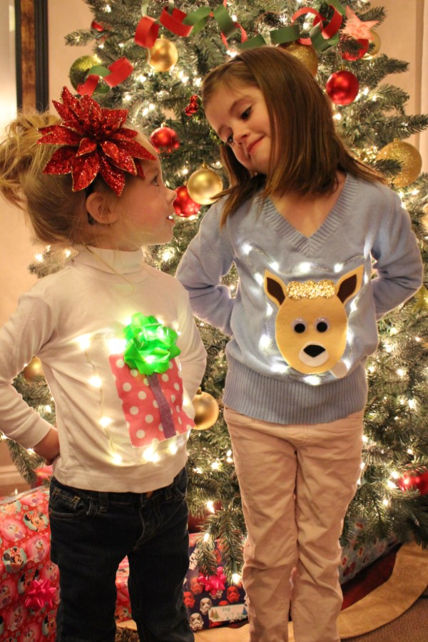 Utah County Mom: No-Sew Ugly Christmas Light Up Sweaters for Kids