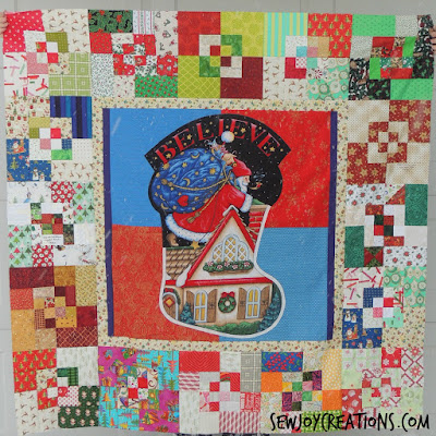 scrappy bento box blocks christmas quilt