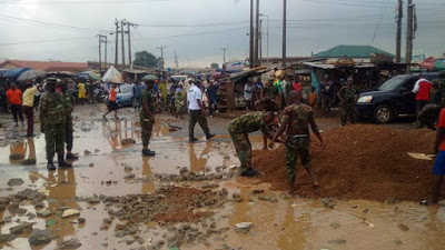 Image result for Nigerian Army Day: Soldiers commence community service in Ikorodu