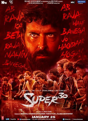 Super 30 Movie First Look, Super 30 Movie First Poster
