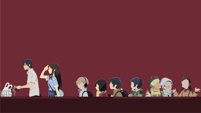 Tapeta przedstawiająca bohaterów anime Boku dake ga Inai Machi