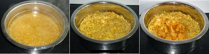 boil the hesru bele, add jaggery to it