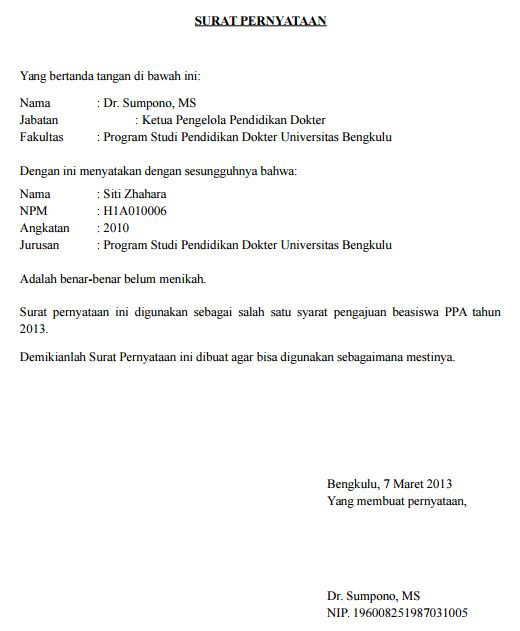 Contoh Surat Keterangan Warga Penduduk RT Singkat untuk Persyaratan Pengajuan
