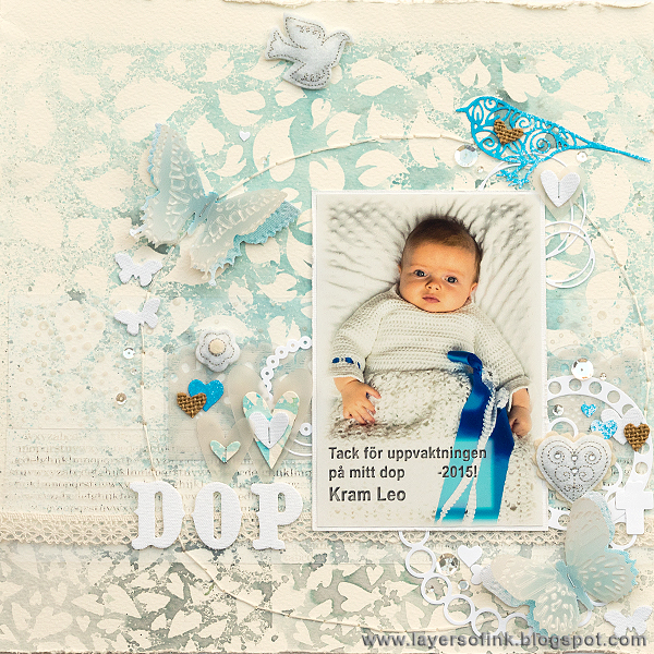 Layers of ink - Misted Background Layout by Anna-Karin