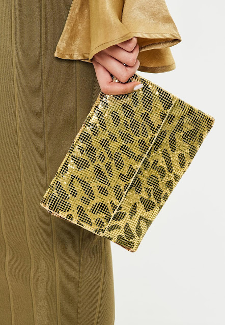 gold leopard print chain mail bag - The best of 80's Fashion