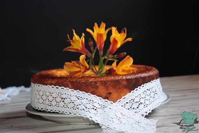 Postre tarta de queso con melocotones - Postres con queso de untar ...
