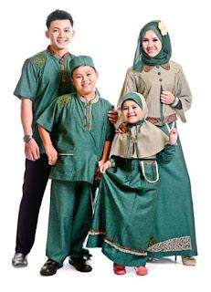 Model Baju Couple Pesta Keluarga Muslim Modern Terbaru