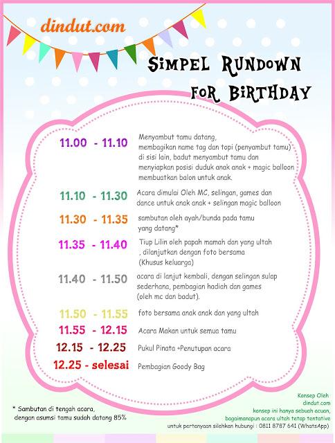 konsep acara ulang tahun