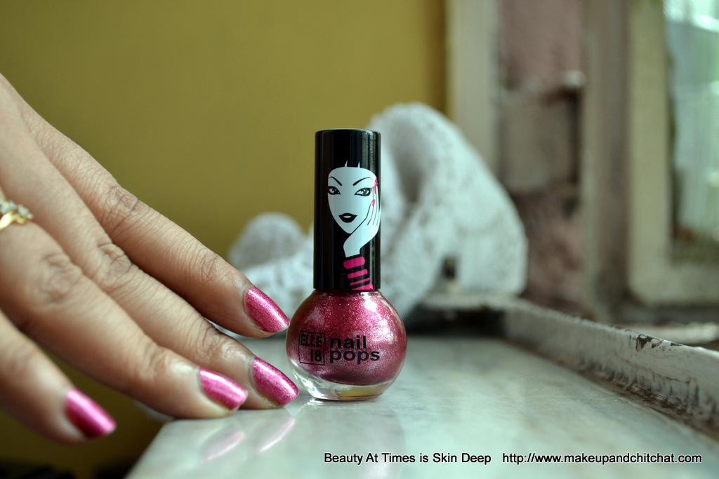 Elle18 Colour Pop Nail Polish Pink Diamond 99