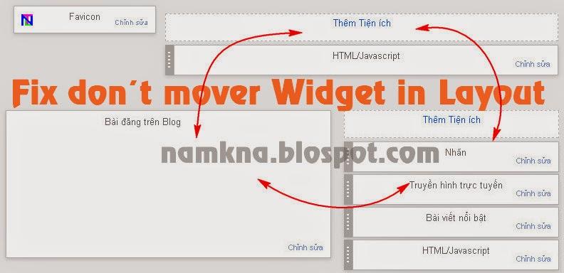 Sửa lỗi không thể chỉnh sửa, di chuyển wiget trong layout blogspot