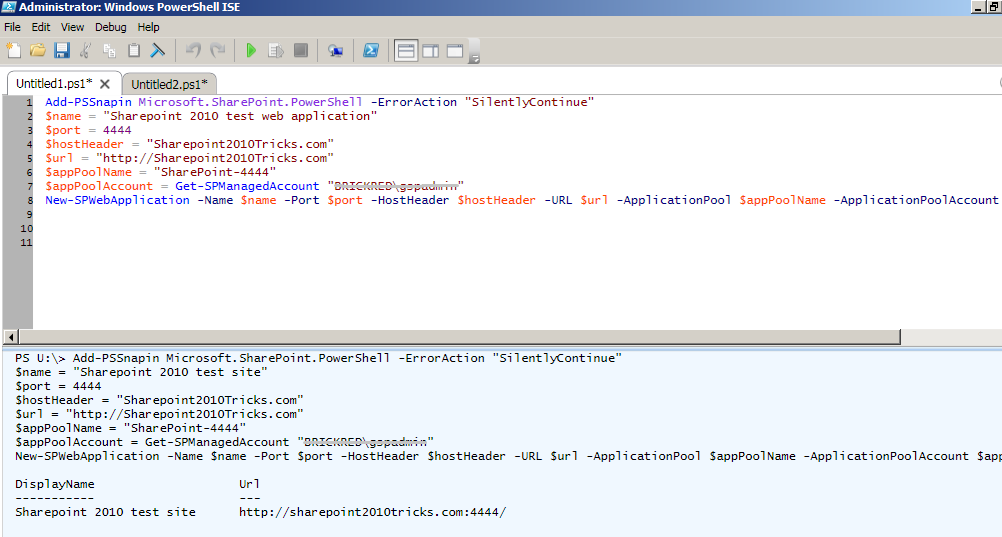 TechPerspect Blog: Creating a web application and site collection