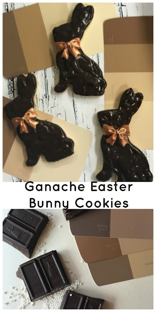 ganache chocolate easter bunny cookie