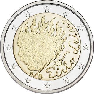 2 euro commémorative 2016 de Finlande - Eino Leino