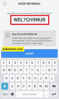 Cara mendaftar Payfazz dengan kode referal