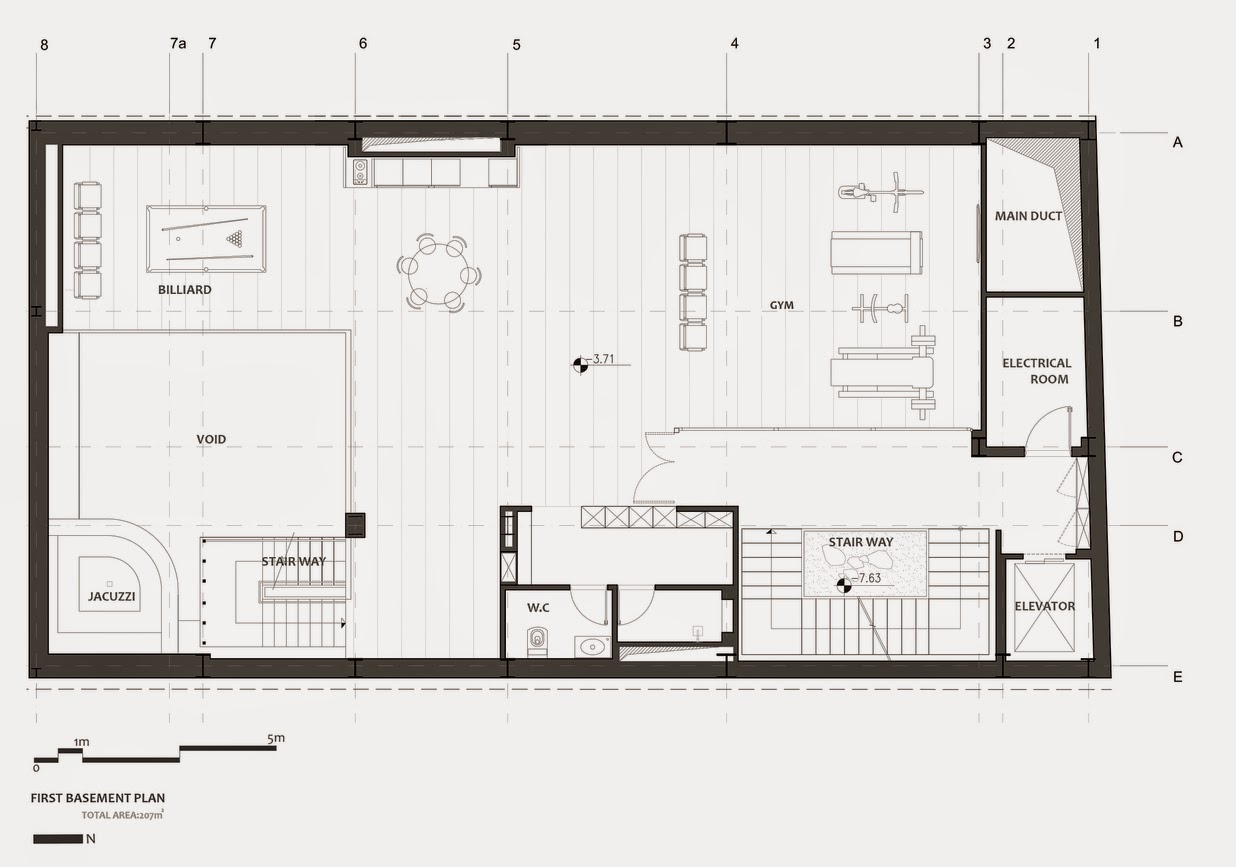 07-Plans-First-Basement-Plan-Section-Nextoffice-Sharifi-Ha-House-Revolving-Rooms-Architecture-www-designstack-co