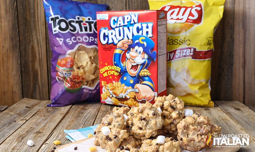No-Bake Cap'n Crunch Avalanche Cookies