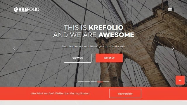 KreFolio - Onepage Responsive Bootstrap HTML template