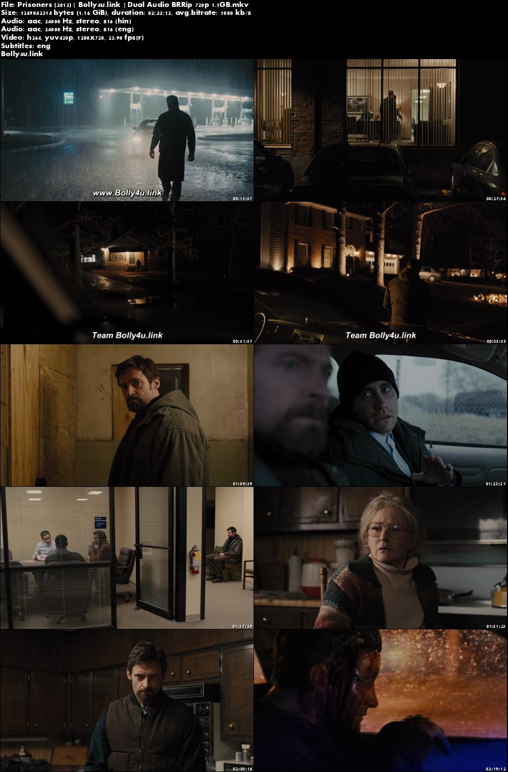 Prisoners 2013 BRRip 450Mb Hindi Dual Audio 480p ESub Download