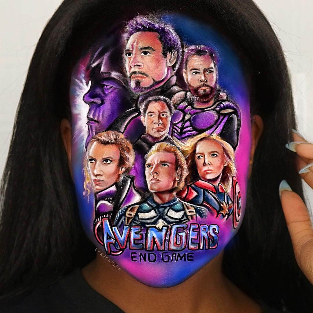 03-Avengers-Endgame-RJ-Tulloch-3D-Makeup-Illusions-Body-Painting-www-designstack-co