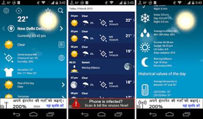تطبيق توقعات الطقس أندرويد, تطبيق الطقس, تطبيق 1Weather Pro, تطبيق 1Weather Pro  كامل, تطبيق 1Weather Pro  مدفوع, 1Weather apk paid version