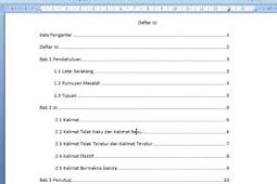 Cara Membuat Daftar Isi Otomatis Dengan Mudah Dan Cepat