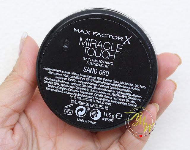 a photo of Max FactorX Miracle Touch Skin Smoothing Foundation Review
