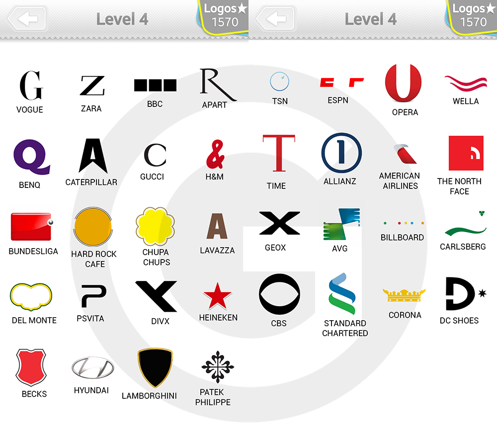 logo quiz expert level 4 type logos