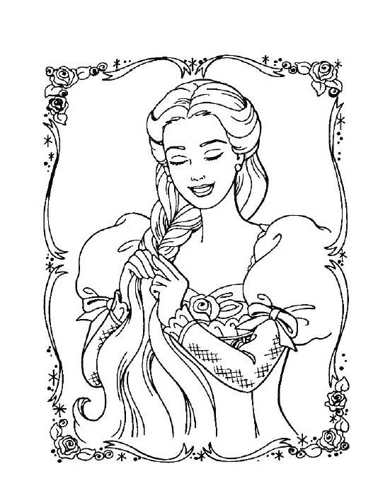 barbie coloring pages dresser | Barbie Princess Coloring Page