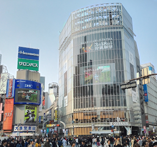 Famous intersection in Shibuya