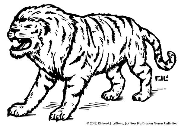 Save Vs. Dragon: New Monster/Illustration of the Week: Liger