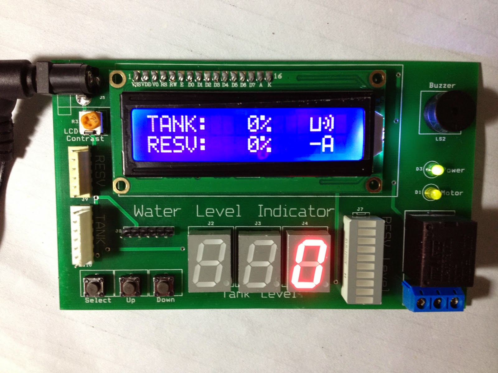 Water Level Indicator Project With Circuit Diagram 1997 Subaru Impreza Stereo Wiring Saeed 39s Blog Using Pic Microcontroller