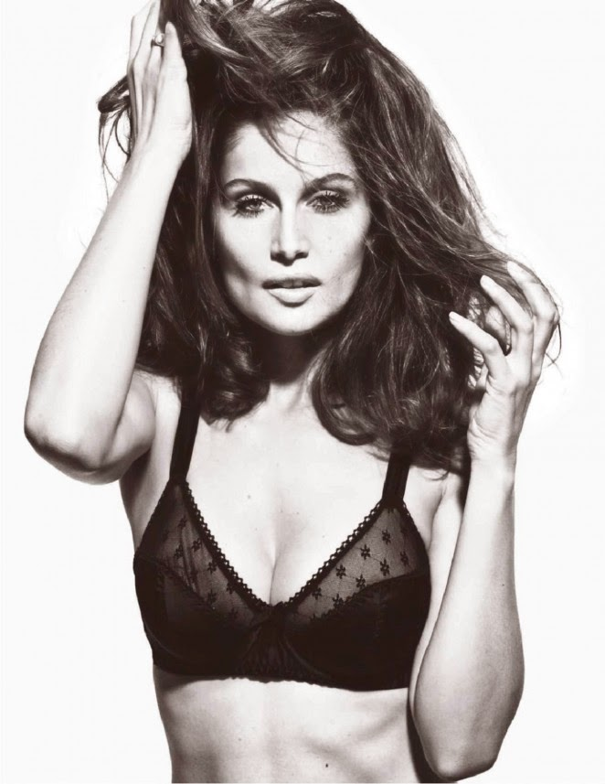 Laetitia Casta poses in lingerie for Lui Magazine's December 2014 issue
