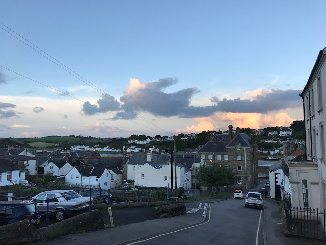 Looking down towards the River Torridge from Bideford, Devon