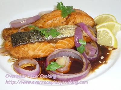 Salmon Pinoy Bistek Style