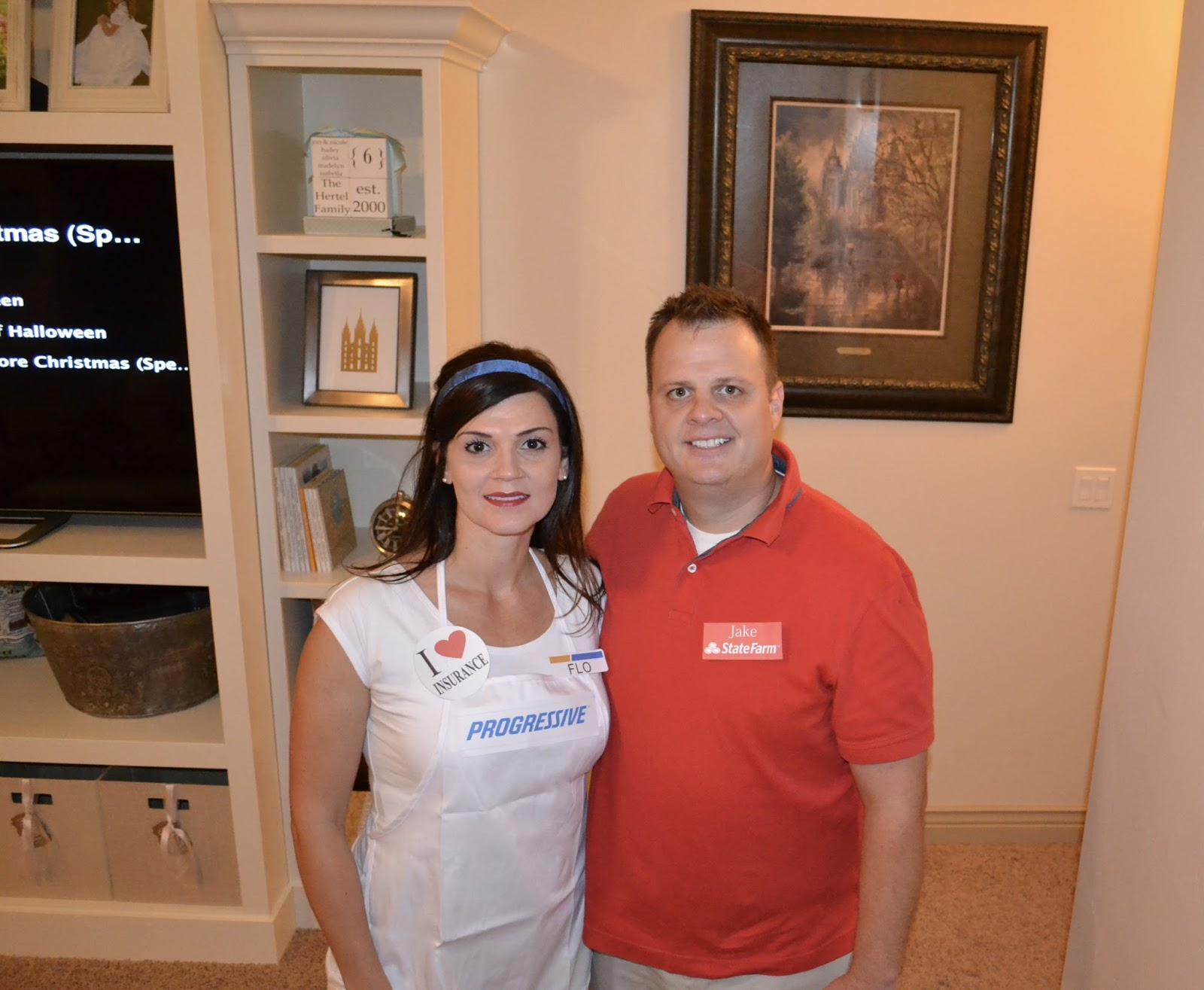 Flo and jake from state farm