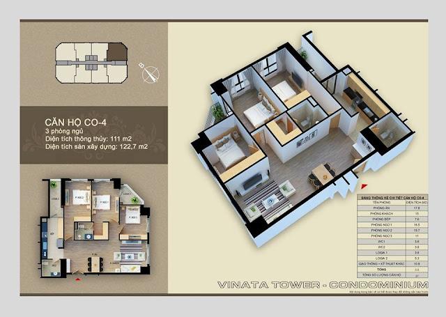 Thiết kế căn hộ 04 chung cư Vinata Towers