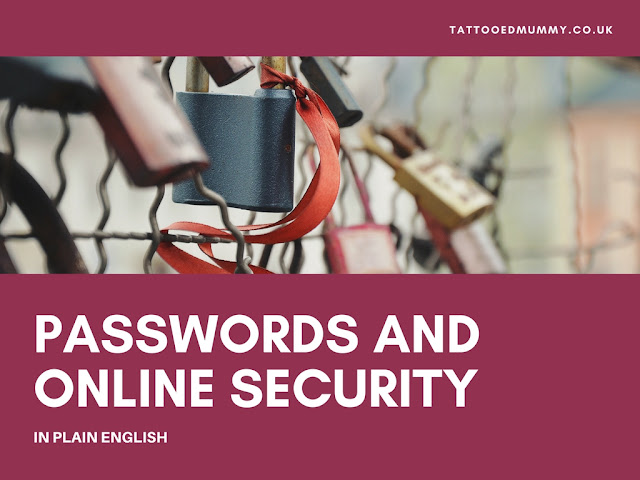Passwords and online security padlocks